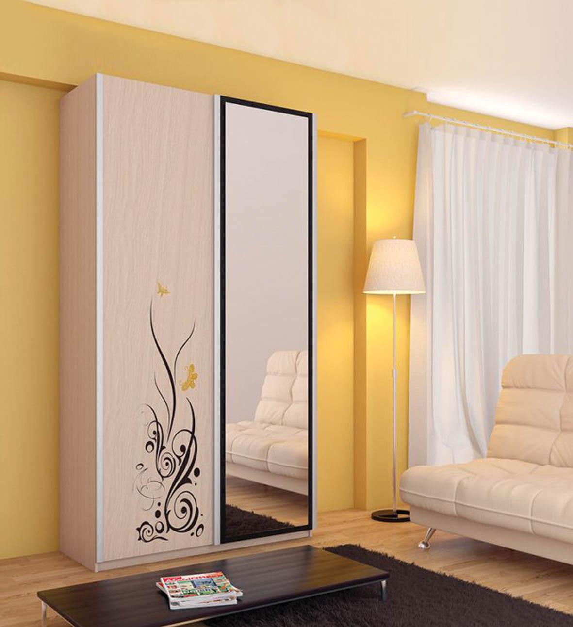 Двухдверный шкаф-купе: фото и особенности - мебельный блог.